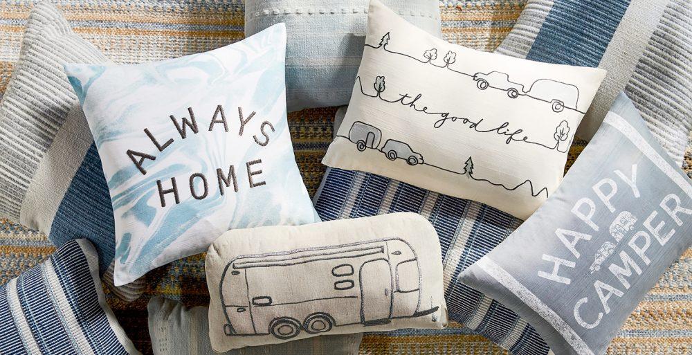 Pottery Barn X Airstream pillows
